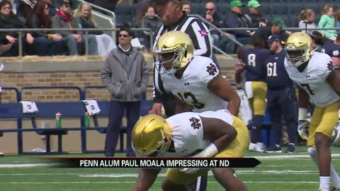 Penn alum Paul Moala impressing early at Notre Dame